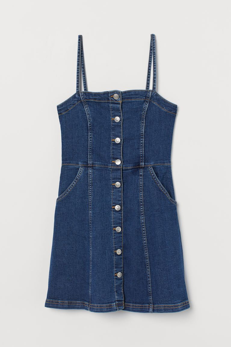 Fitted dress - Denim blue - Ladies | H&M