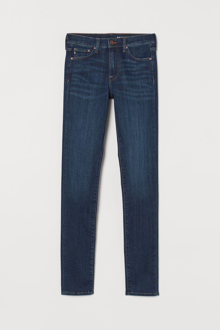 Shaping Skinny Regular Jeans - Dark blue denim - Ladies | H&M US
