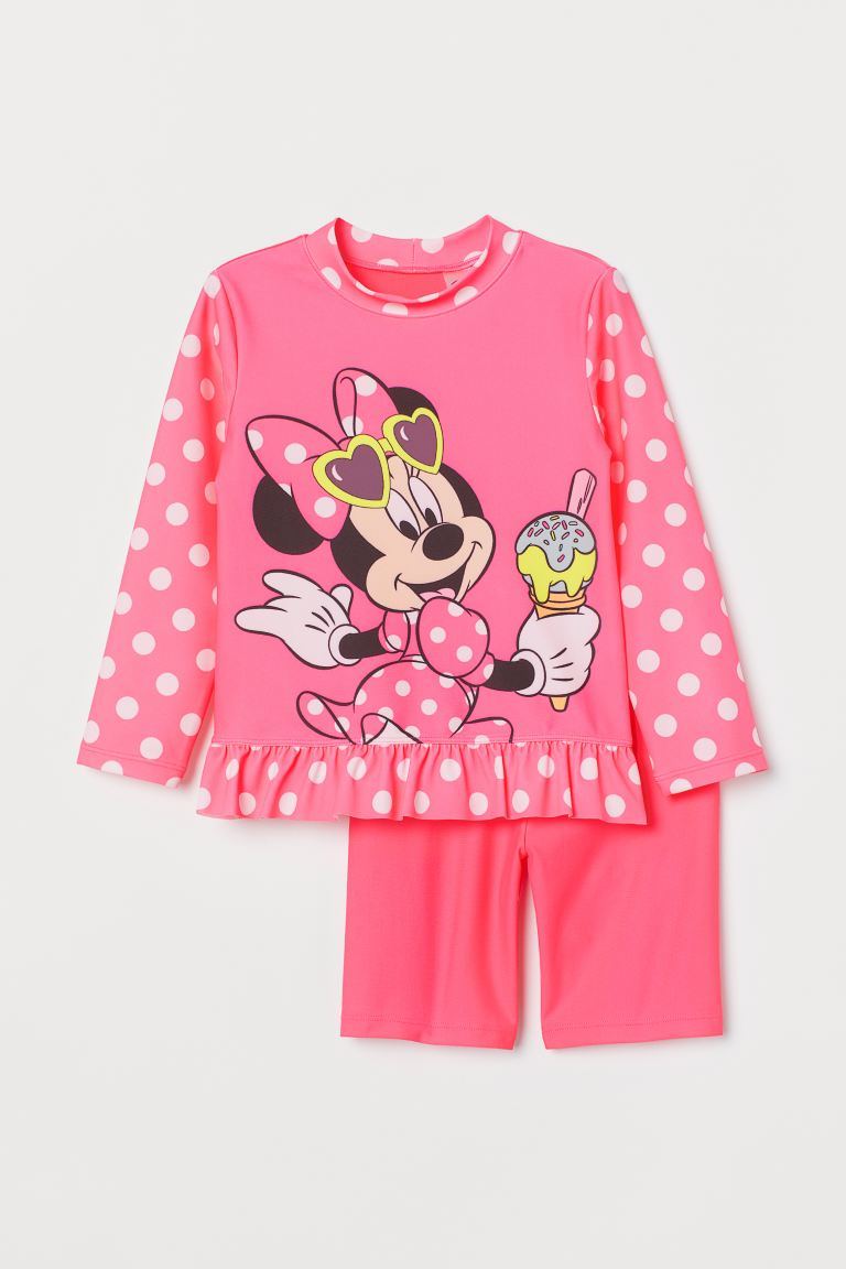 UPF 50 swim set - Pink/Minnie Mouse - Kids | H&M