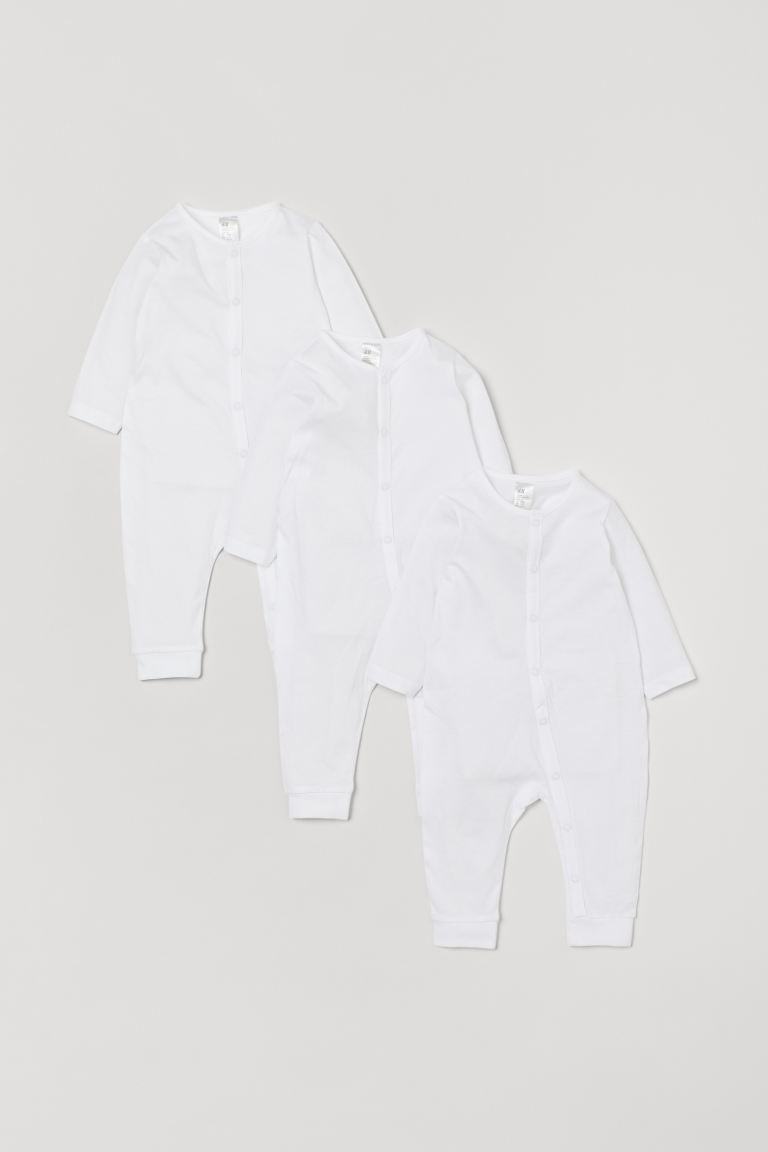 3-pack de pijamas de algodón - Blanco - Kids | H&M MX