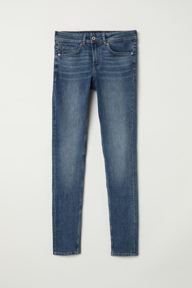Super Skinny Regular Jeans - Dark blue - Ladies | H&M GB