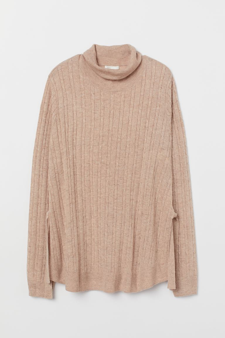 MAMA Gestrickter Stillpullover - Beigemeliert - Ladies | H&M AT