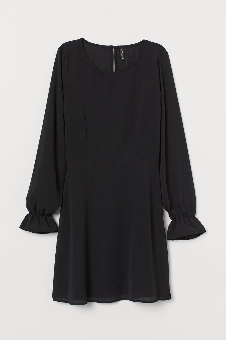 Crêpe dress - Black - Ladies | H&M GB