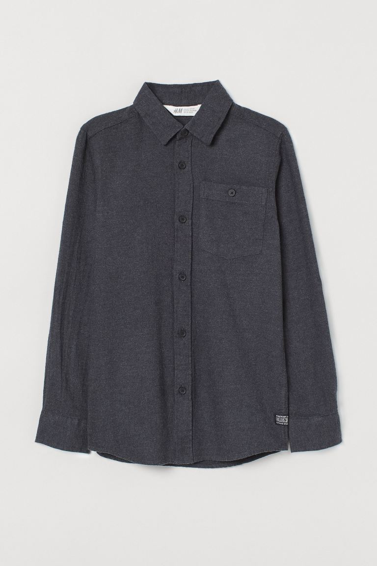 Flannel shirt - Dark grey - Kids | H&M