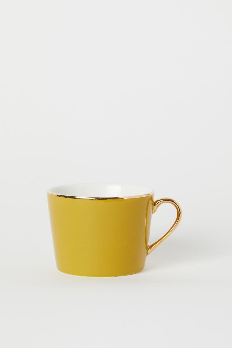 Tasse en porcelaine - Jaune moutarde - HOME | H&M BE