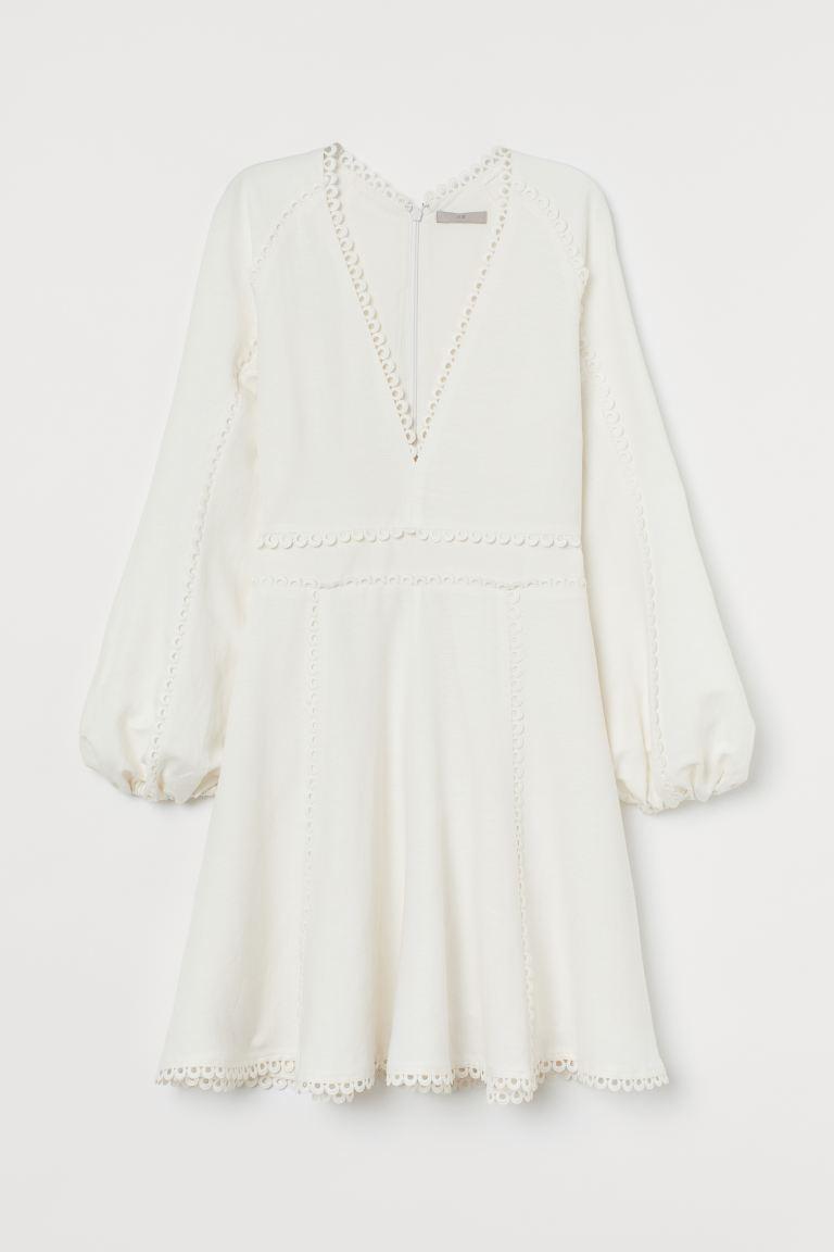 Kleid aus Leinenmix