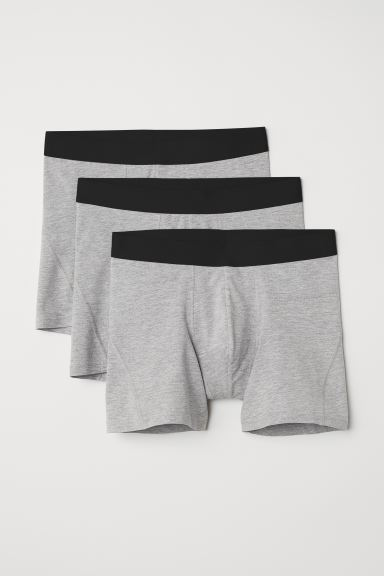 3er-Pack Kurze Trunks - Graumeliert - Men | H&M DE