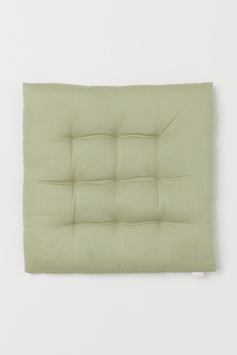 Twill Seat Cushion - Light green -  | H&M US