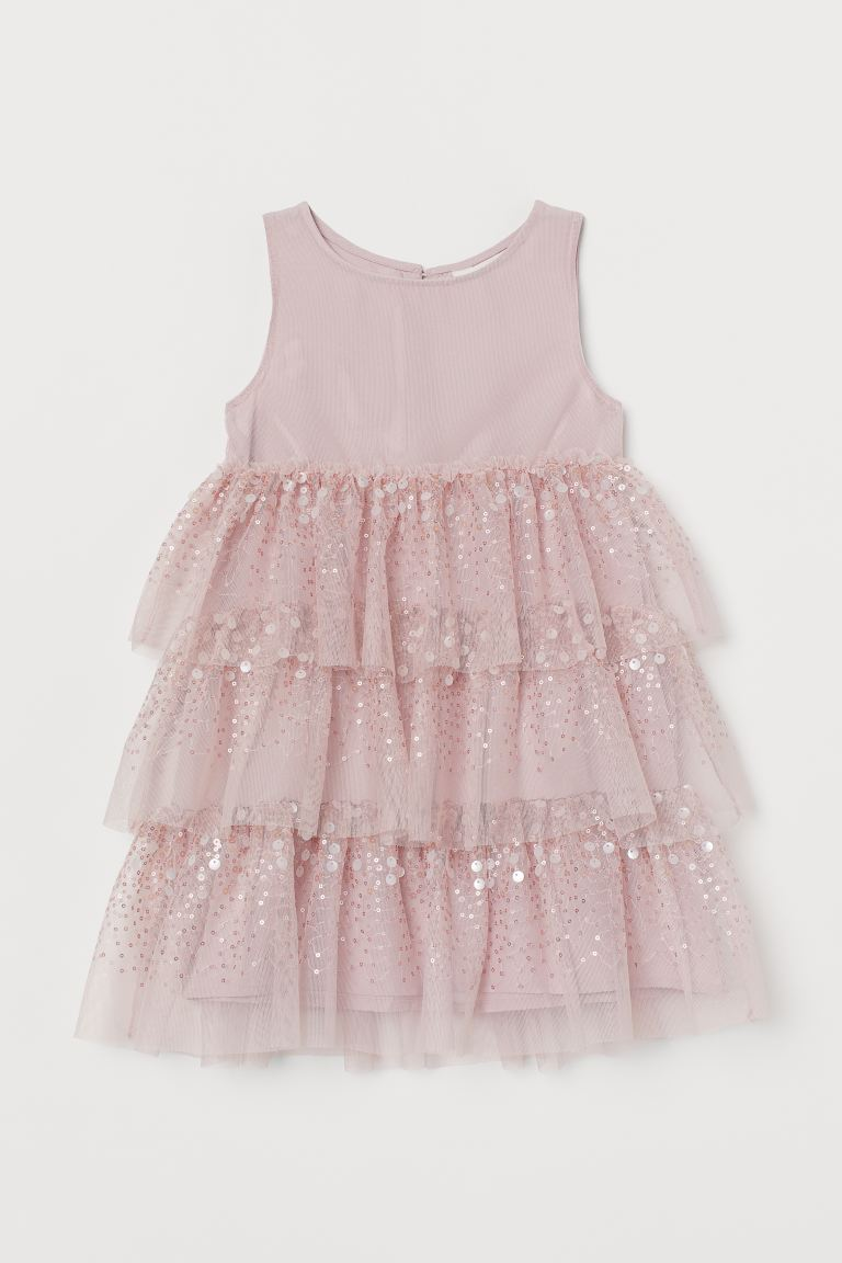 Tulle dress with sequins - Vintage pink - Kids | H&M