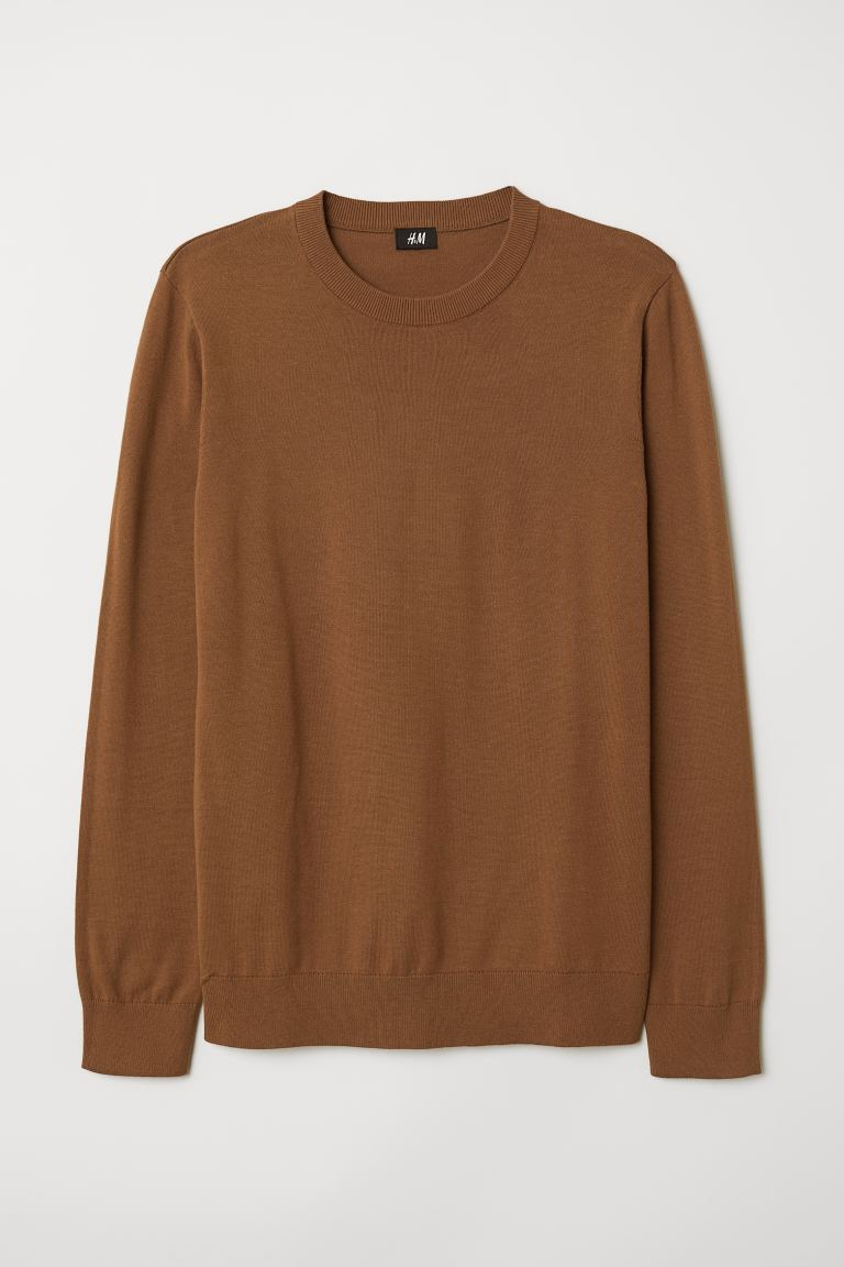 Fine-knit Sweater - Light brown - Men | H&M US