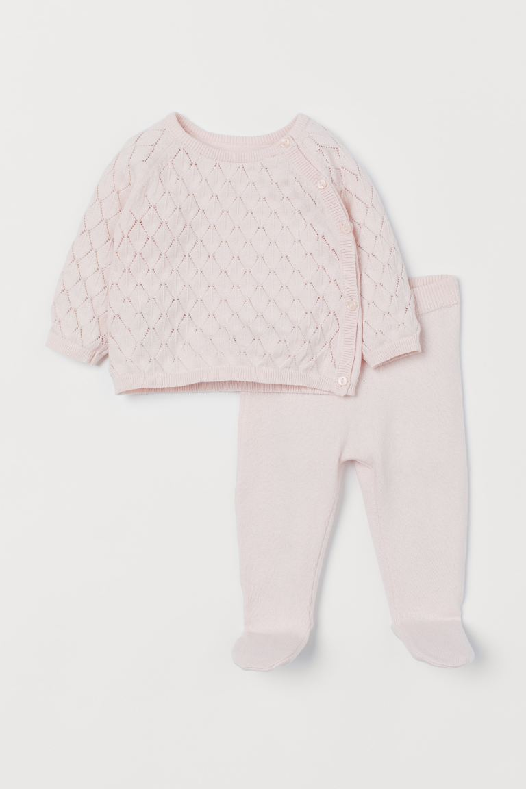 Cotton jumper and trousers - Light pink - Kids | H&M IN