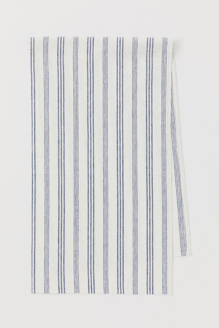 Runner in misto lino - Bianco/blu righe - HOME | H&M IT