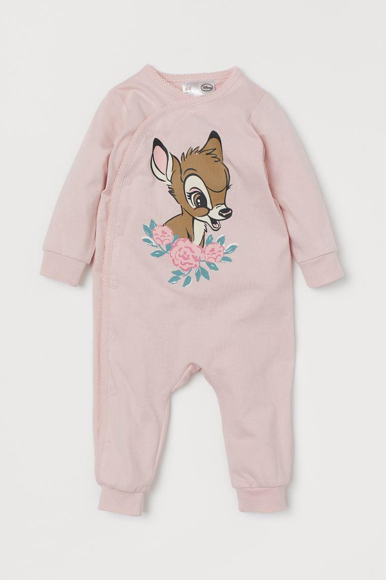 Printed pyjamas - Light pink/Bambi - Kids | H&M GB
