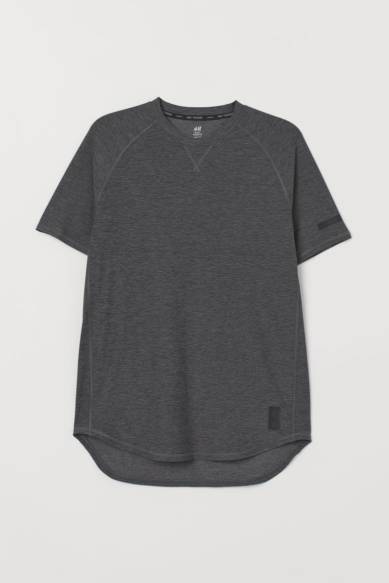 Sports top Loose fit - Dark grey marl - Men | H&M