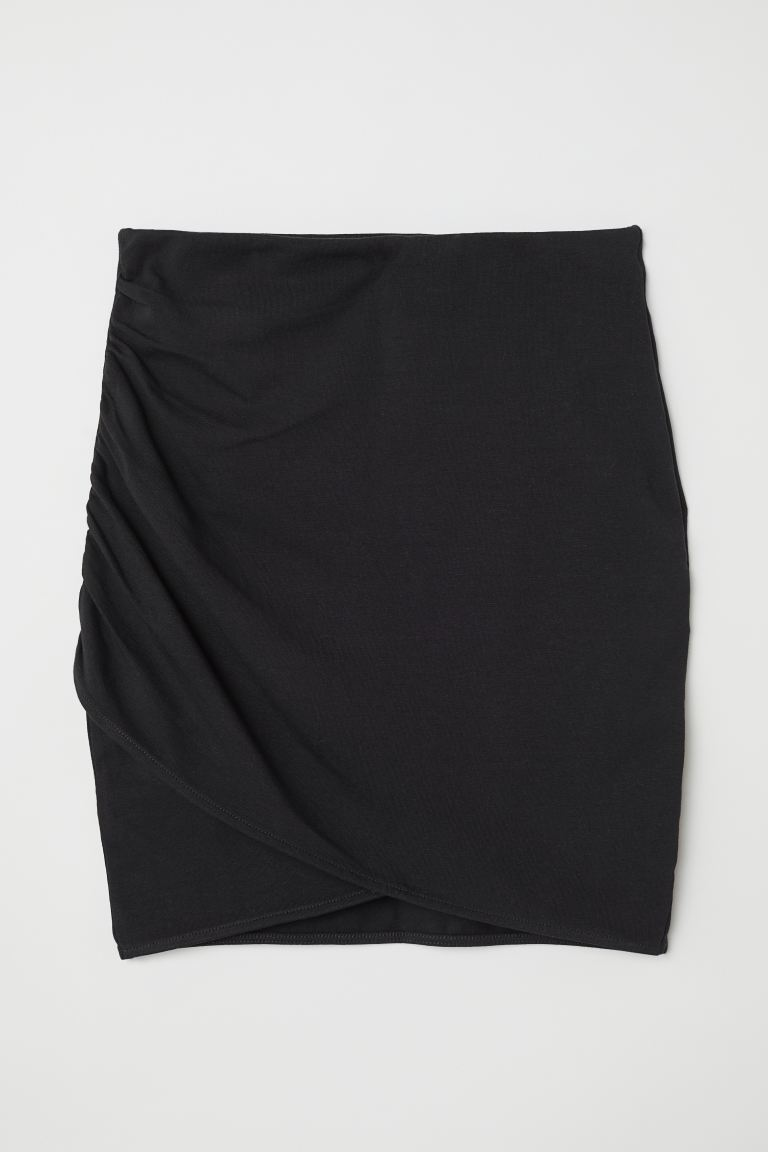 Draped skirt - Black - Ladies | H&M IE