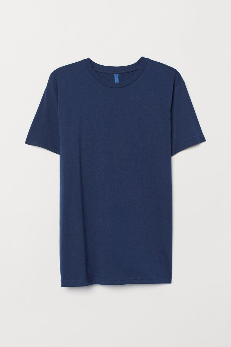 T-shirt - Dark blue - Men | H&M