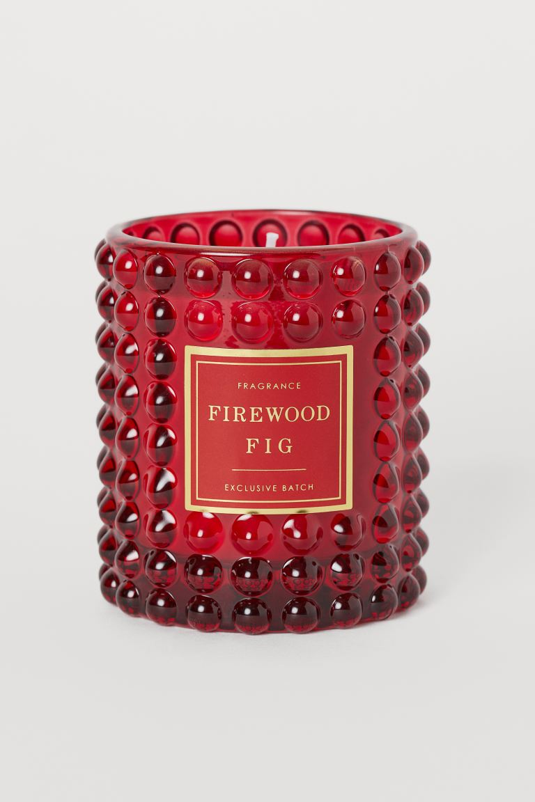 Bougie parfumée - Rouge/Firewood Fig - Home All | H&M FR