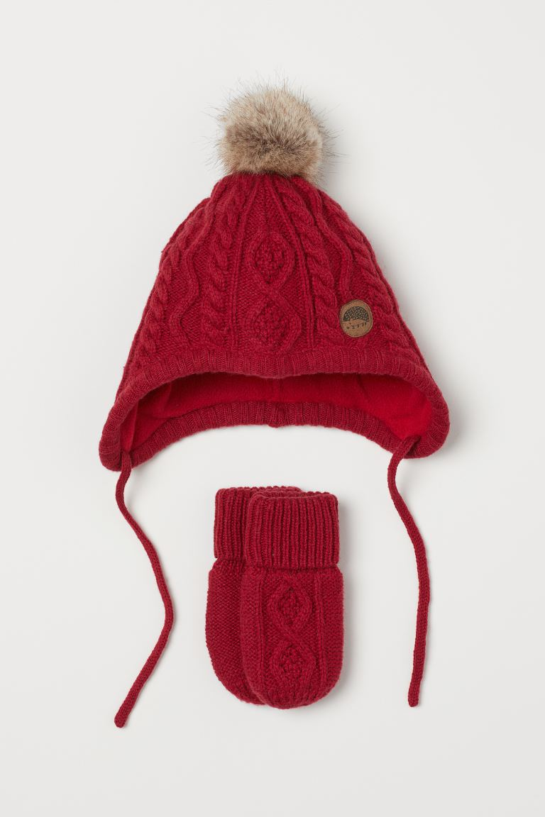 Hat and Mittens - Red - Kids | H&M US