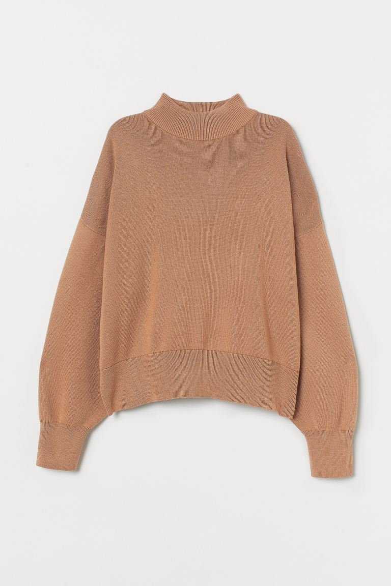 Turtleneck jumper - Beige - Ladies   H&M GB