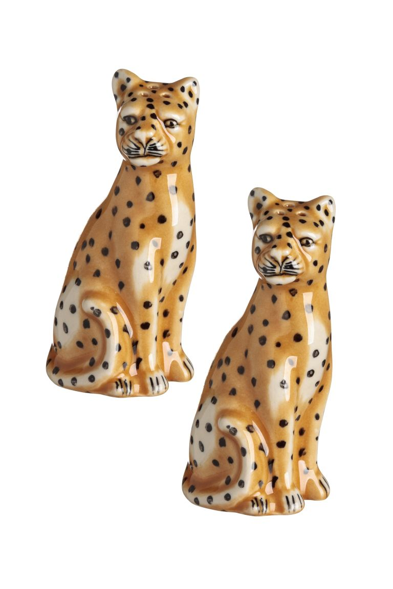 Salt and pepper set - Yellow/Cheetah - Home All | H&M GB