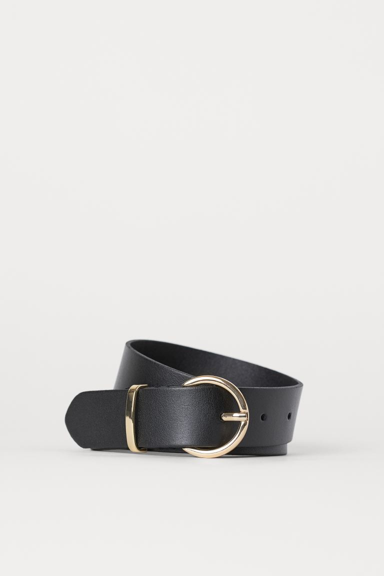 Leather belt - Black - Ladies | H&M IE