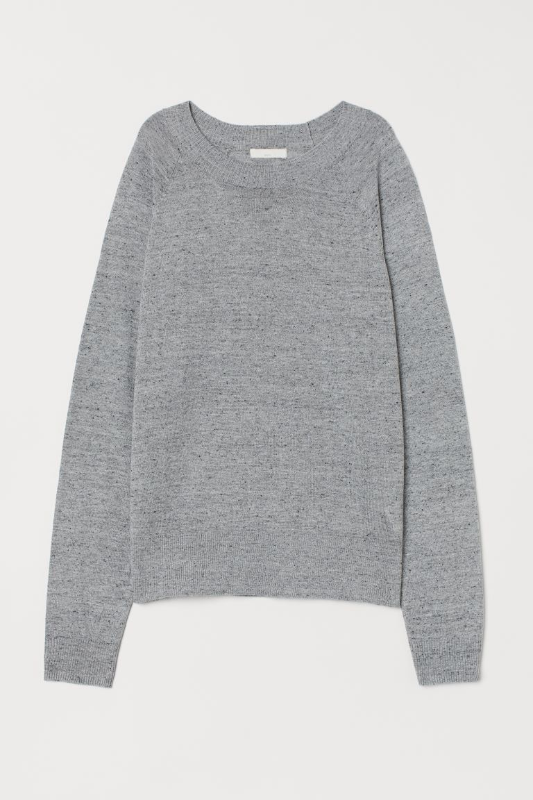 Fine-knit jumper - Grey marl - Ladies | H&M GB