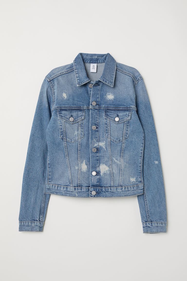 Jeansjacke - Blau/Trashed - Ladies | H&M DE