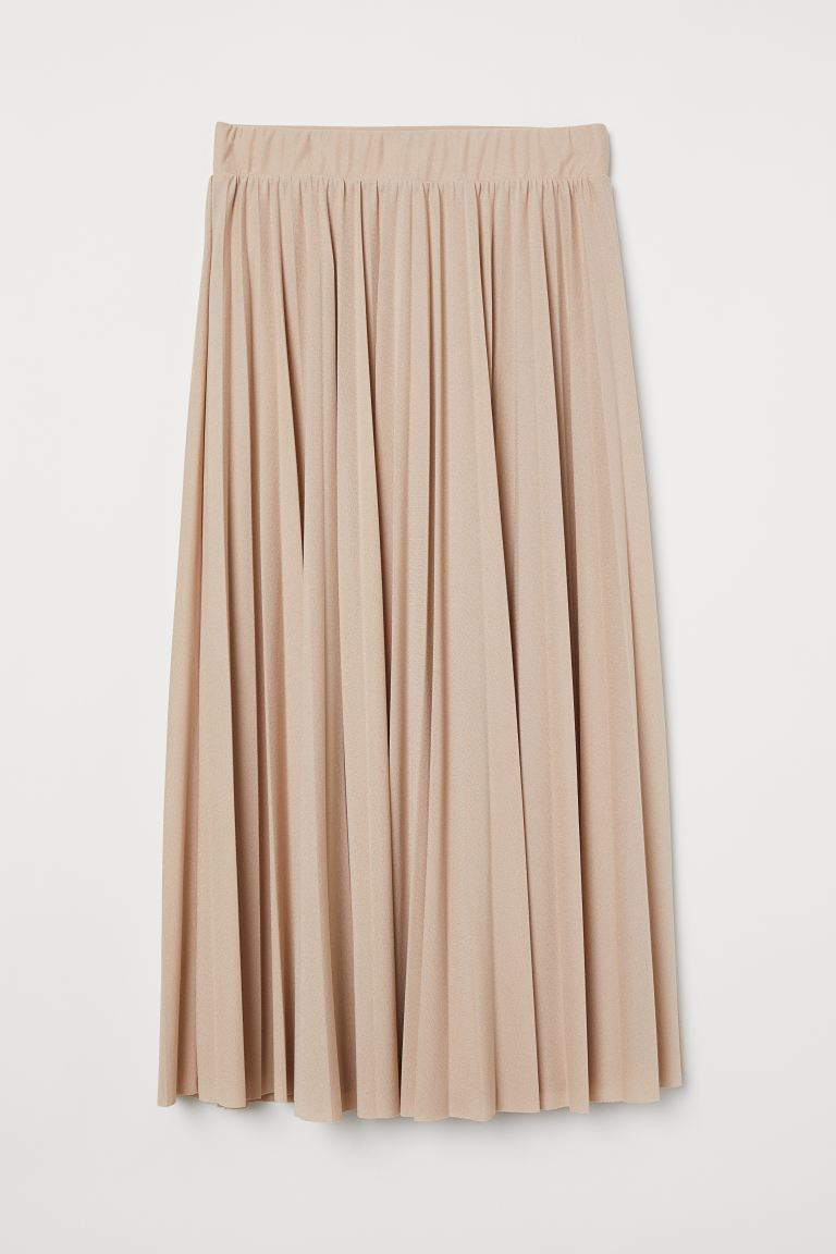 Pleated skirt - Beige -  | H&M GB