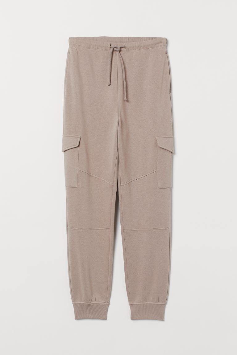 Joggers with Leg Pockets - Taupe - Ladies | H&M CA