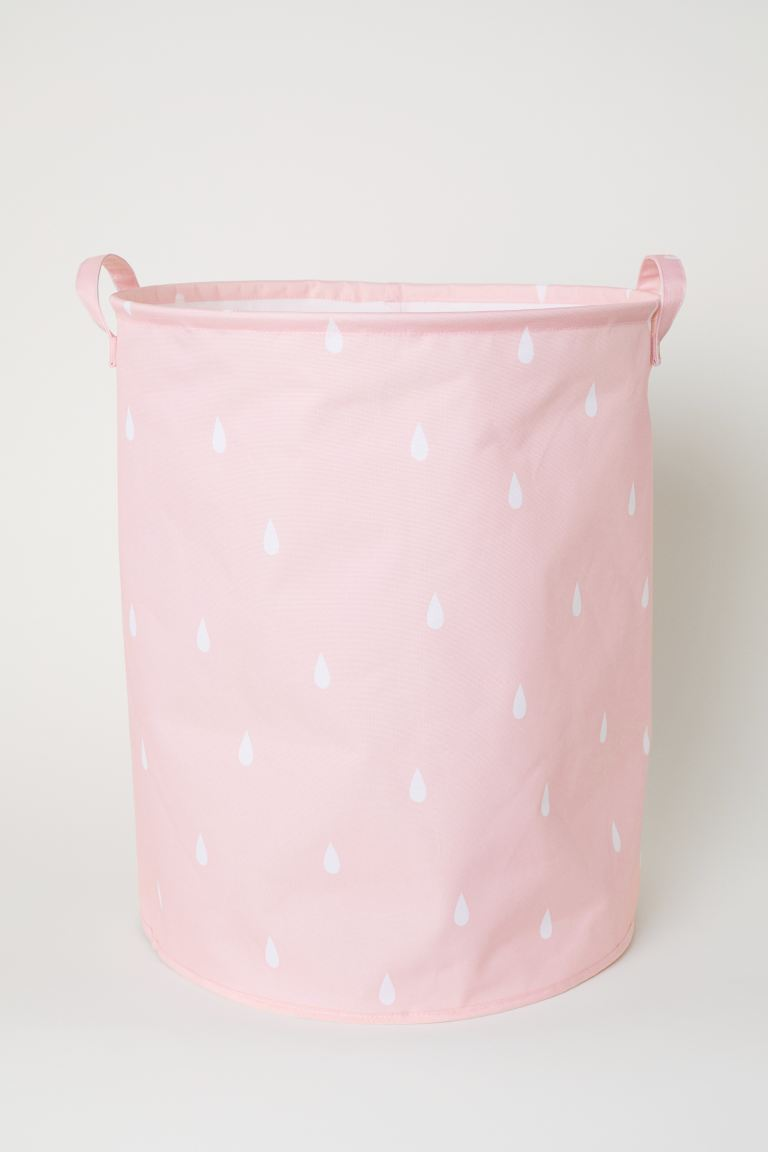 Large storage basket - Light pink/Raindrops - Home All | H&M GB