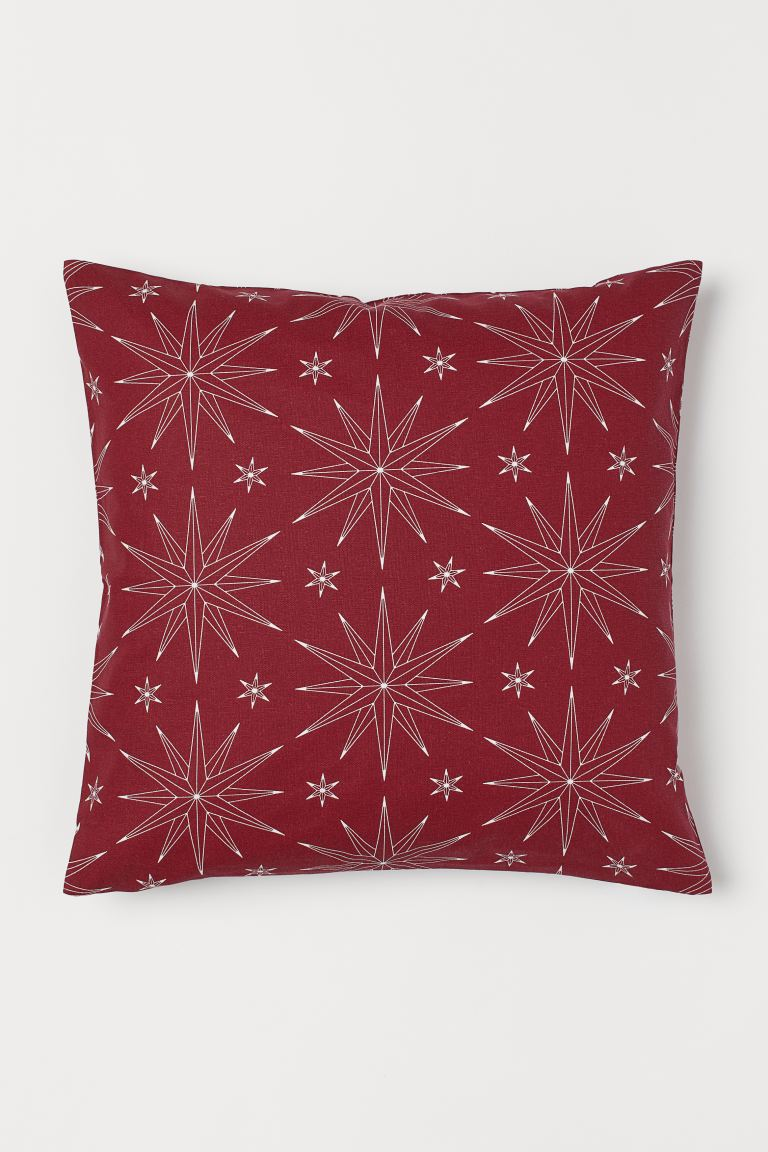 Patterned Cushion Cover - Red/stars - Home All | H&M US
