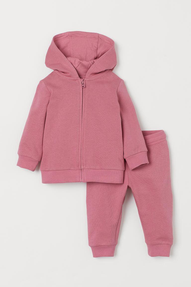 2-piece cotton set - Pink - Kids | H&M GB