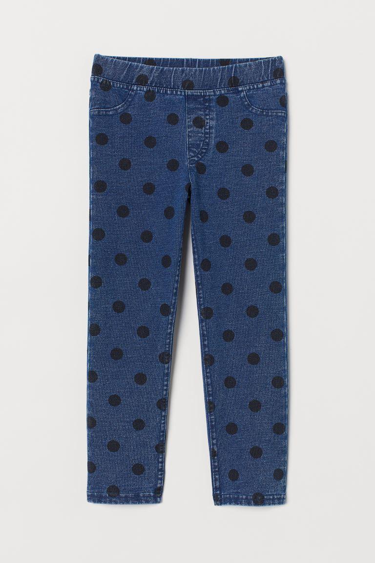 Treggings - Denim blue/Spotted - Kids | H&M GB