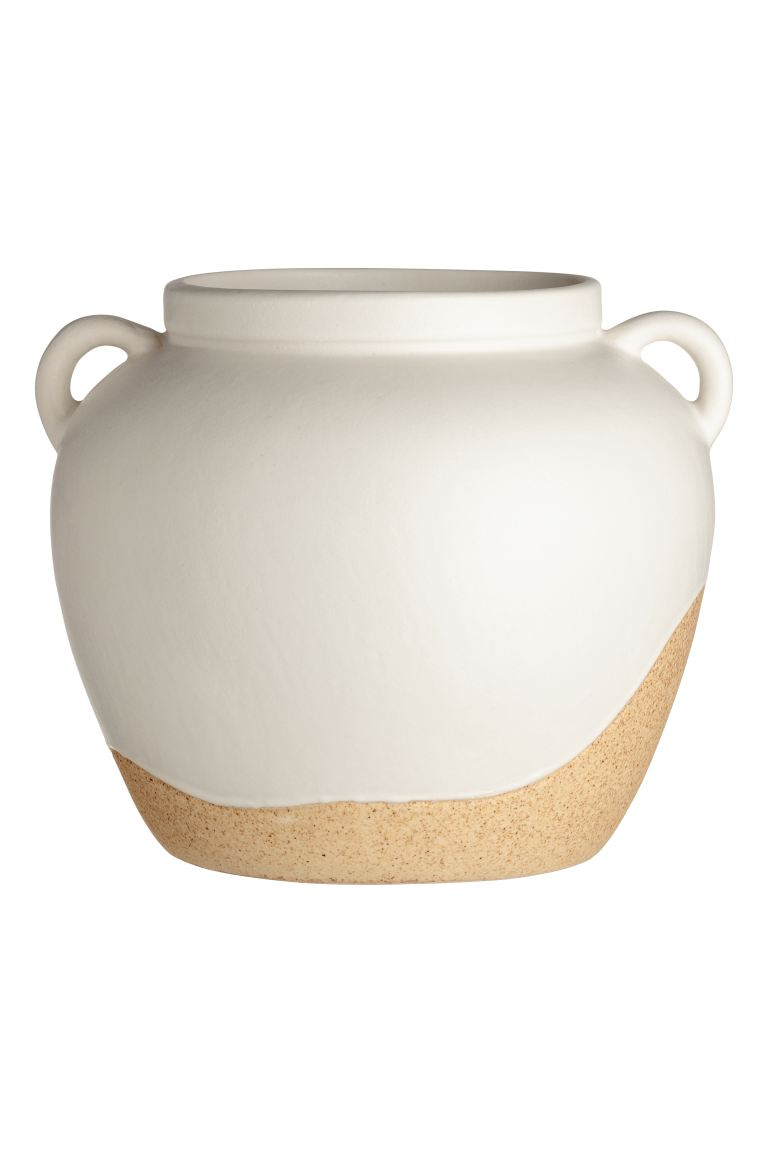 Stoneware pot - White/Beige - Home All | H&M IE