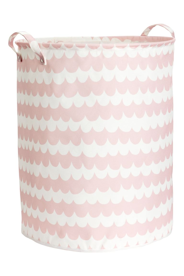 Large storage basket - Light pink/Patterned - Home All | H&M GB
