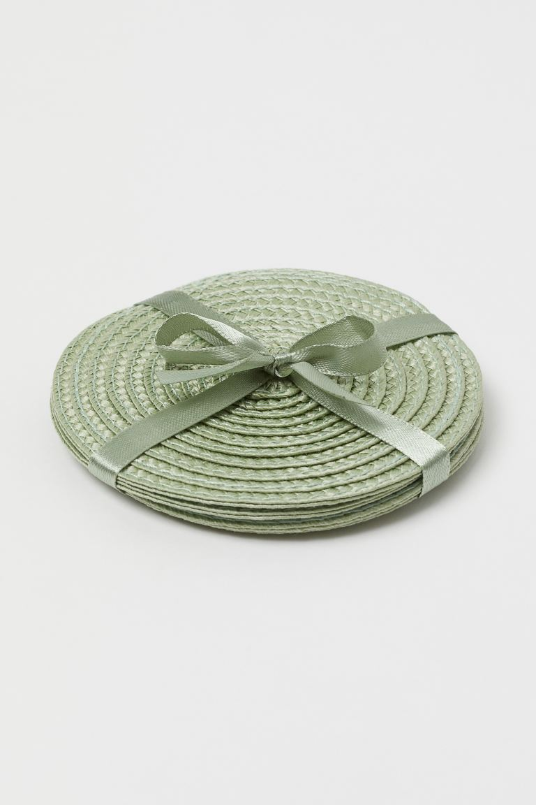 4-pack coasters - Dusky green - Home All | H&M