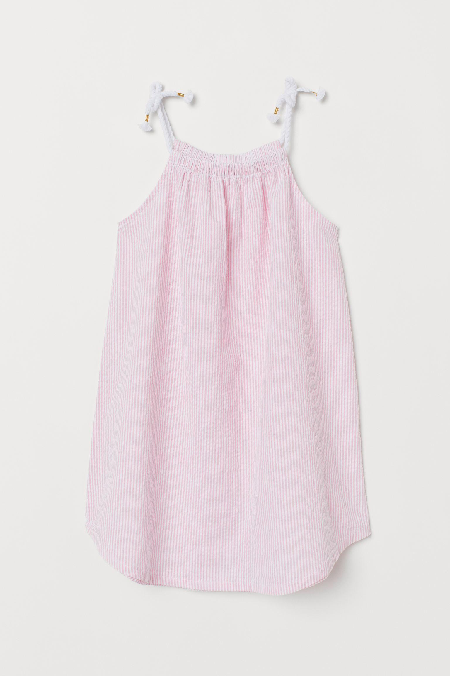 Seersucker Dress Light Pink Striped Kids H M Us