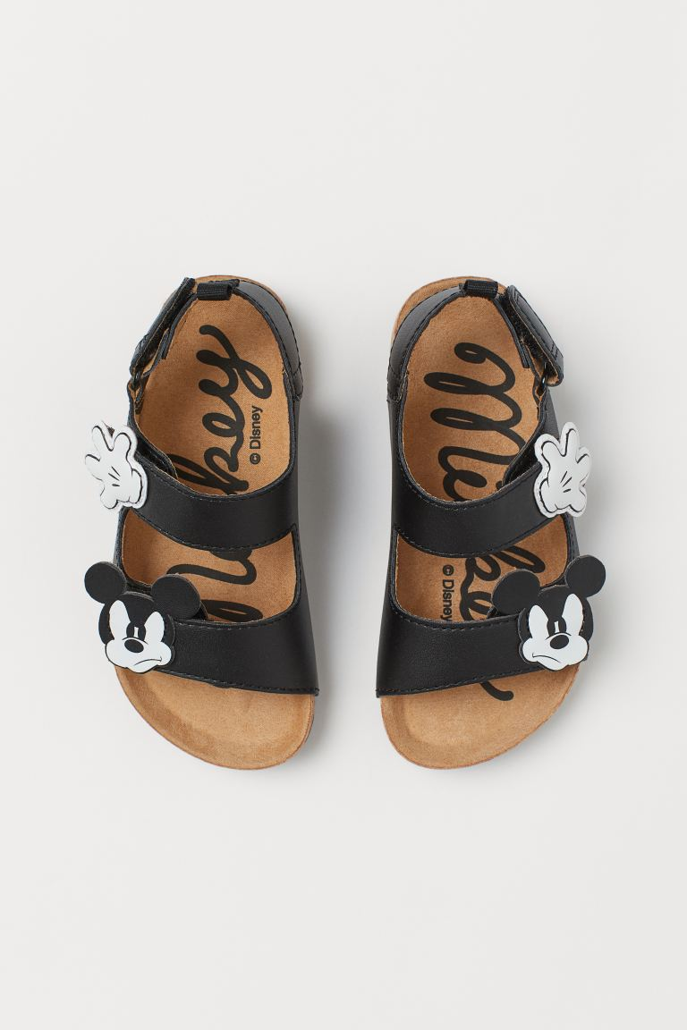 Motif-detail sandals - Black/Mickey Mouse - Kids | H&M
