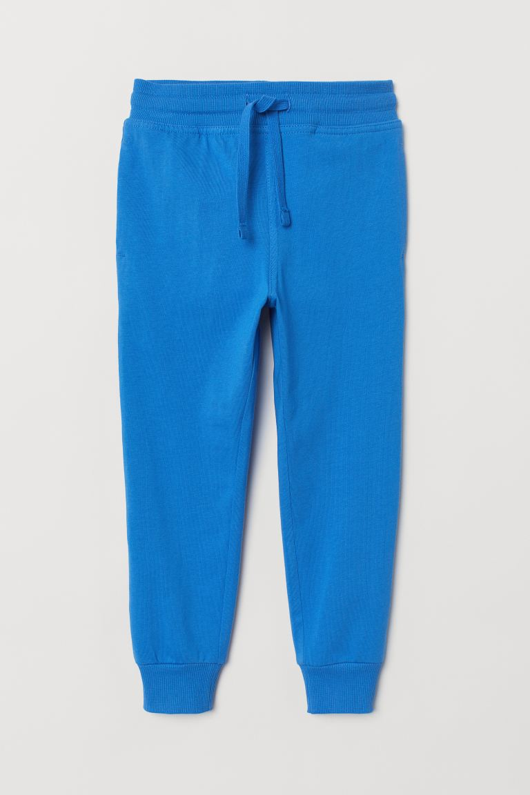 Cotton jersey joggers - Bright blue -  | H&M