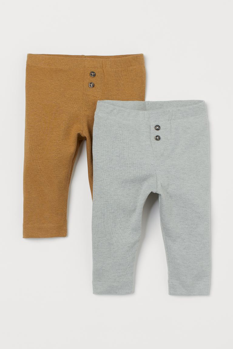 2-pack leggings - Lys turkismelert - BARN | H&M NO