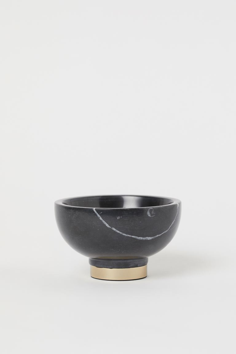 Small Marble Bowl - Black/marble - Home All | H&M US