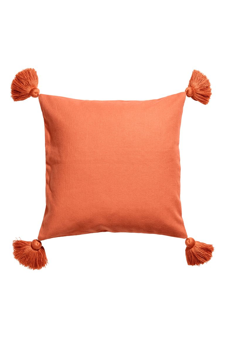 Cushion Cover with Tassels - Orange - Home All | H&M US