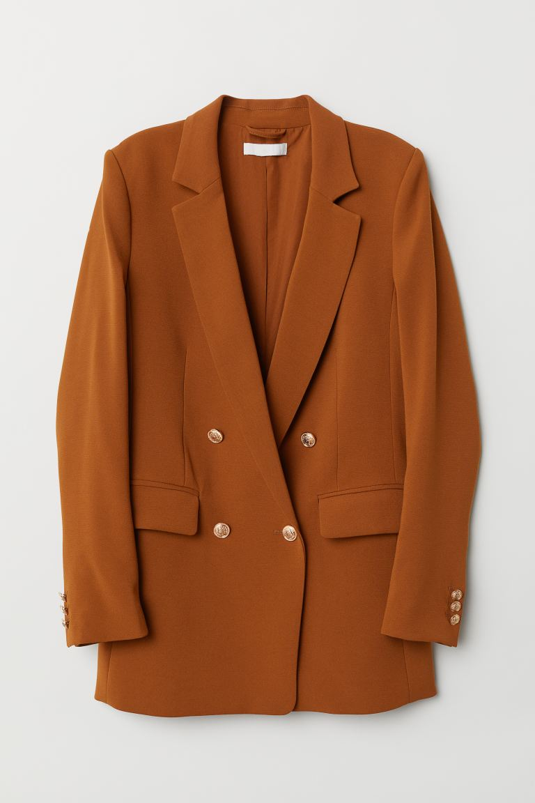 Double-breasted Jacket - Light brown - Ladies | H&M US