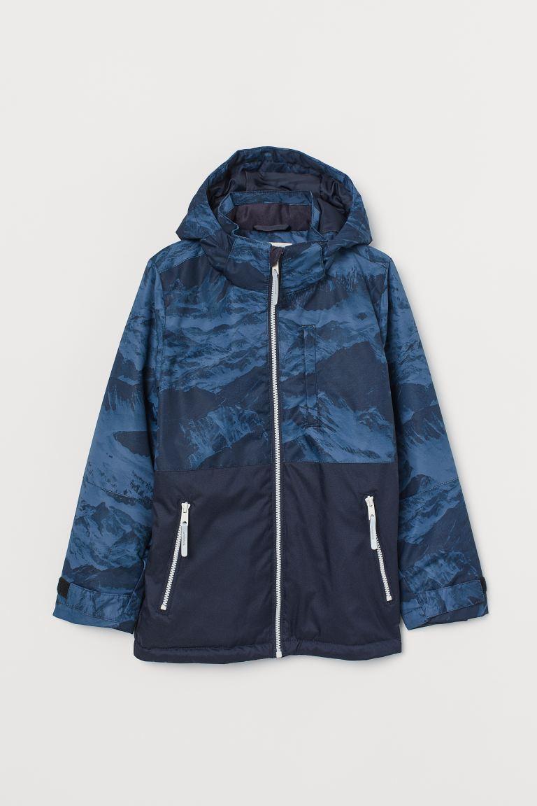 Waterproof jacket - Dark blue/Patterned - Kids | H&M GB