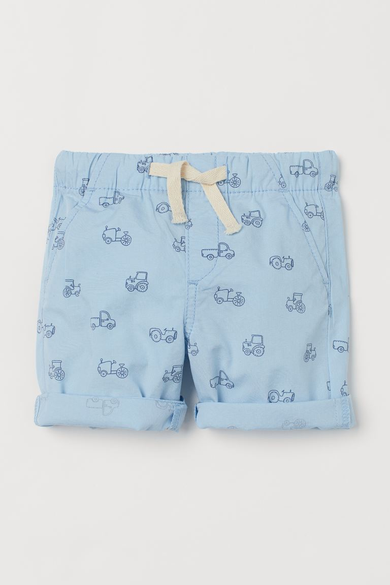 Cotton shorts - Light blue/Tractors -  | H&M