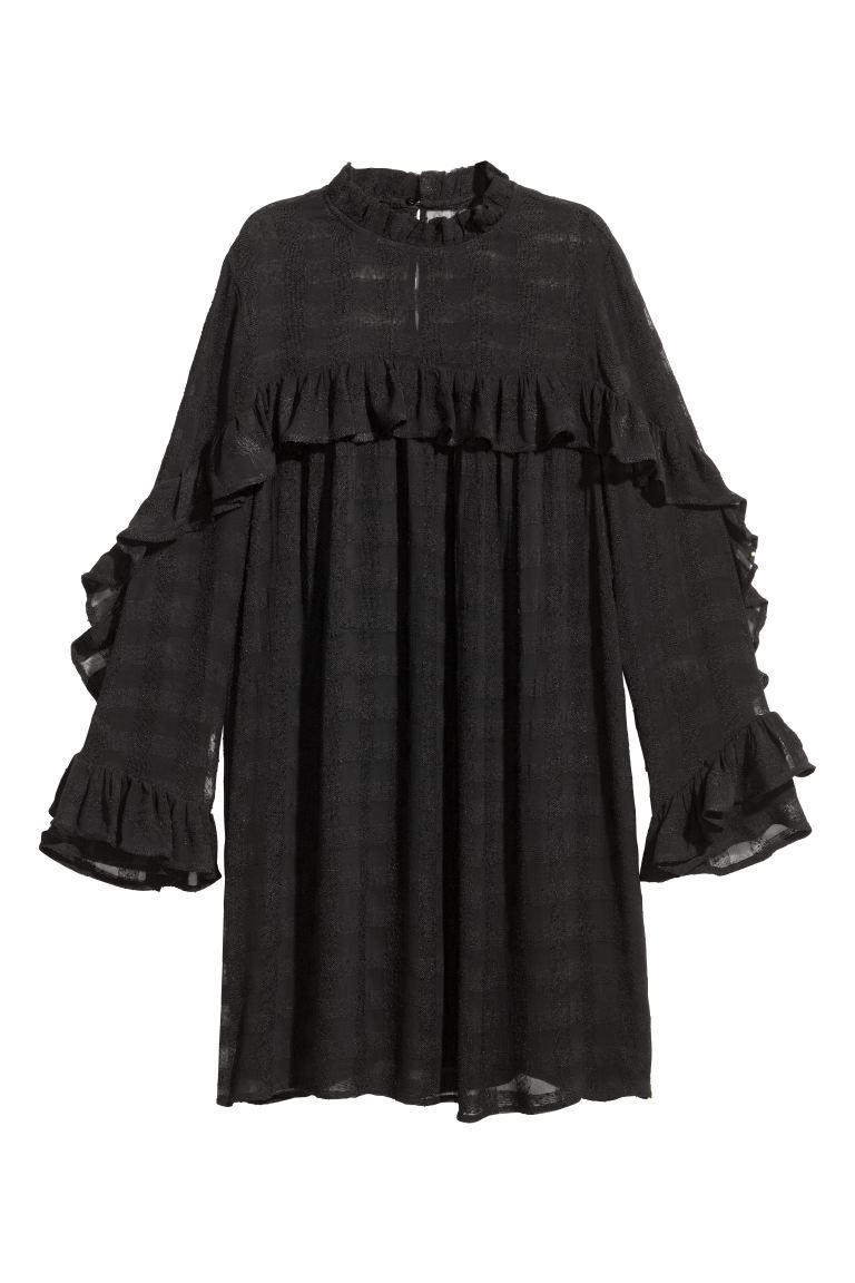 Textured Dress Black Las H M