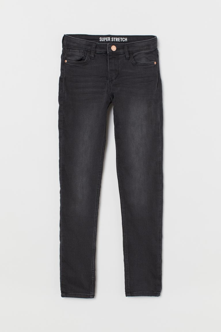 Superstretch Skinny Fit Jeans - Svart/Washed out - BARN | H&M FI