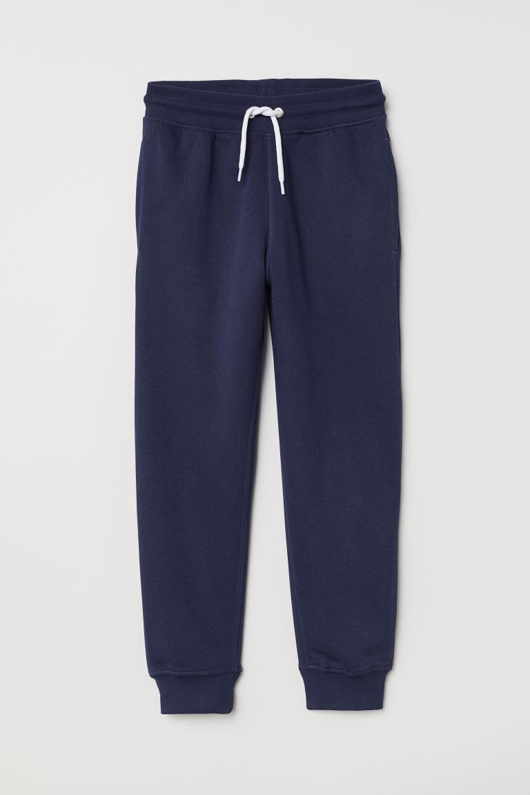 Cotton-blend joggers - Dark blue -  | H&M