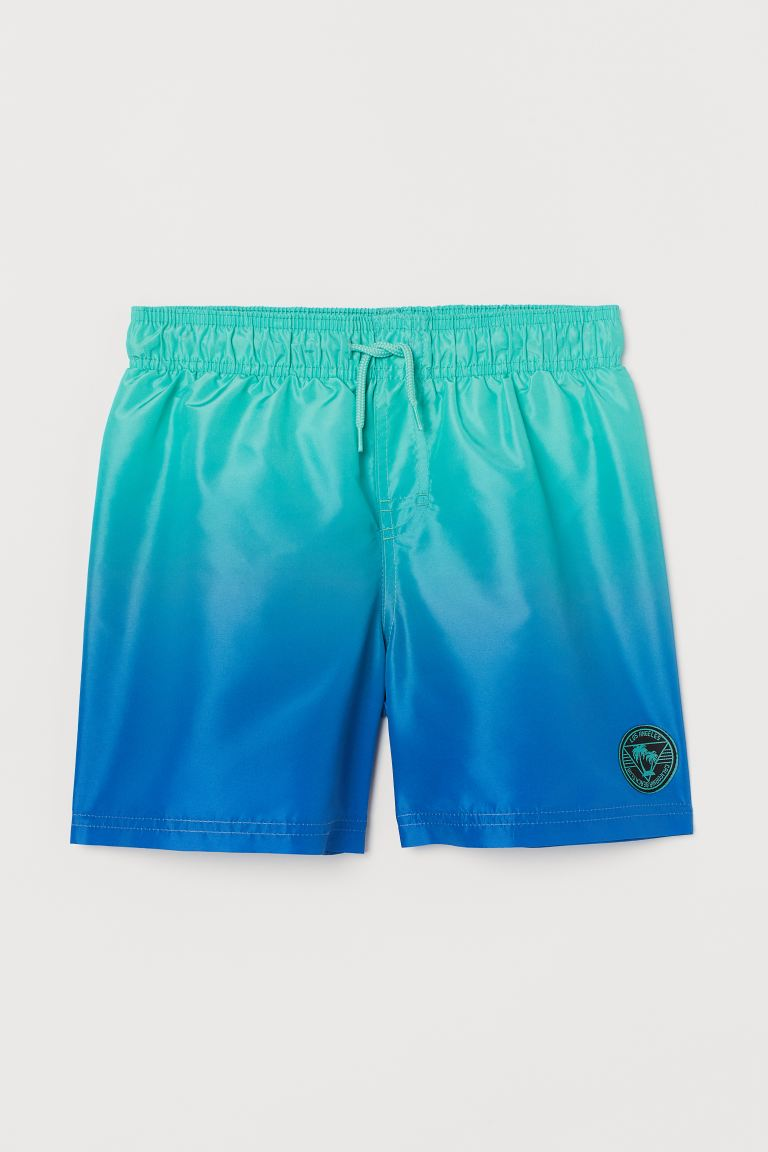 Patterned swim shorts - Green/Blue - Kids | H&M