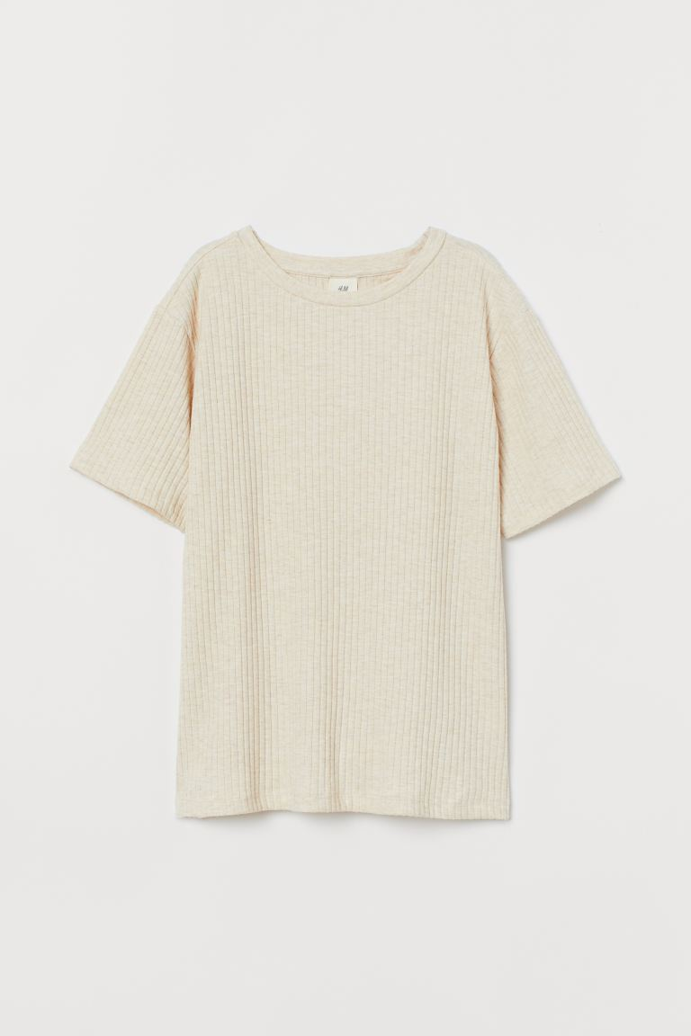 Relaxed T-shirt - Light beige - Ladies | H&M US